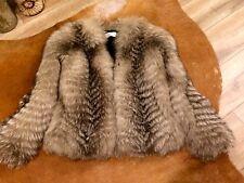 Real Fur Black Fox Jacket RRP £ 650
