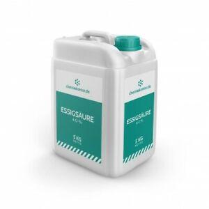 Essigsäure 60% – technische Qualität – 5 kg / 20 kg / 220 kg / 1.000 kg