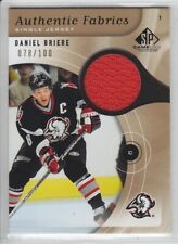 2005-06 UD SPGU DANIEL BRIERE JERSEY /100 GOLD Authentic Fabric Sp Game Used Sab
