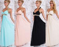 Festliche bodenlange ärmellose Damenkleider aus Polyester