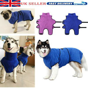 Dog Drying Coat Robe Towel Bathrobe Absorb Moisture Microfibre Fast Dry Pet