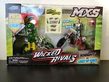 Road Champs MXS Wicked Rivals Knight vs  Light-up Rider Brand New Sealed