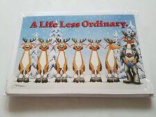 HARLEY DAVIDSON CHRISTMAS CARDS #X505 BIKER REINDEER LIFE LESS ORDINARY (100PK)