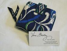 Vera Bradley MEDITERRANEAN BLUE Mini ZIP WALLET Coin FOR Purse TOTE backpack EUC