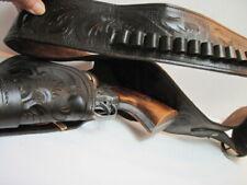 Vintage BKA 98 Movie Prop Gun Non Firing Colt Revolver w/ Real Leather Holster