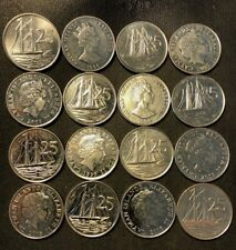 Old Cayman Islands Coin Lot - 25 CENT - 16 Excellent Scarce Coins - Lot #J15