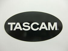 TASCAM PRO AUDIO RECORDING STUDIO STICKER DECAL WHITE ON BLACK NICE NEW RARE