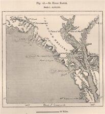 St. Elias range. Alaska 1885 old antique vintage map plan chart