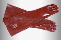 Strahlerhandschuhe 40cm Vinyl, Strahlkabine, glatt, gefüttert, Strahlhandschuhe