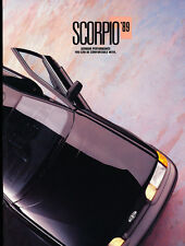 1989 Ford Merkur Scorpio 20-page Original Car Sales Brochure - Mercury