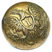 Civil War US Army line infantry officer 23mm eagle coat button - Extra Quality