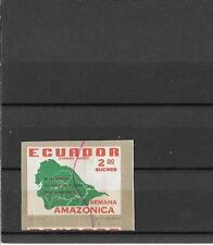 ECUADOR-Unlisted imperf variety of Amazon River stamp-1961 airmail