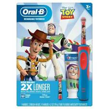 NEW Disney Toy Story Oral-B Rechargeable Kids Toothbrush With Crest Toothpaste