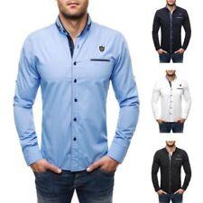 Camisas y polos de hombre de manga larga 100% algodón