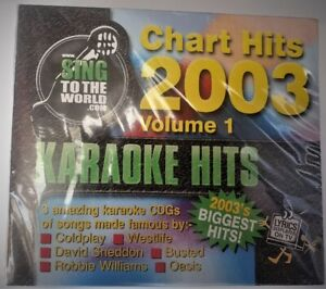 KARAOKE HITS Chart Hits 2003 Volume 1 [Audio CD with Graphics] 3 Karaoke CDGs