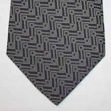 NEW Silk Neck Tie Dark Blue Navy with White Pattern 1455