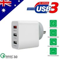 For Huawei P30 & P30 Pro QC 3.0 Certified 3 Port Fast Charging Wall Adapter