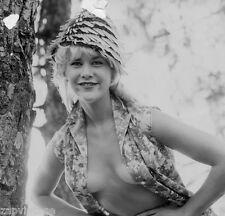 Vintage 1960's Black & White PIN-UP Sexy HEADSHOT Model Topless BOOBS PHOTO