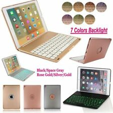 "7 Colors Backlit Bluetooth Keyboard Folding Case For iPad Pro 9.7"" AIr 2 Mini WF"