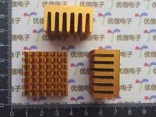 2PCS Golden 28*28*15MM Copper Heatsink Heat Sink Thermal Routing CPU heatsink