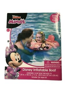 NIB Disney Junior Minnie Mouse Inflatable Boat Floater