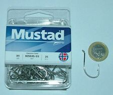 MUSTAD 25 AMI 92553 S SIZE 3/0 STAINLESS STEEL PESCA 92553S OCCHIELLO