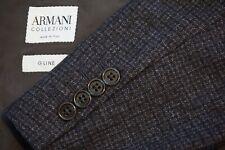 Armani Collezioni G Line Gray Brown Plaid Woven Flannel Sport Coat Jacket 42