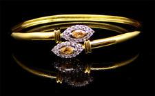 Cubic Zirconia White Bracelet Yellow Gold Plated Finish 406 2B 04