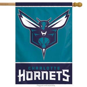 """Charlotte Hornets Vertical NBA House Flag Basketball Licensed 28"""" x 40"""""""