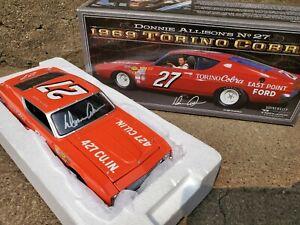 University Of Racing Legends Donnie Allison Signed 1969 Torino #27 1:24 Car