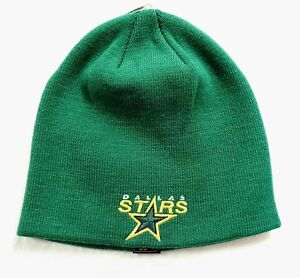 DALLAS STARS CLASSIC CUFFLESS KNIT BEANIE HAT SKI CAP TOQUE NEW NWT