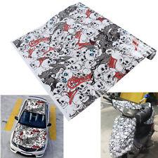 """60"""" x 20"""" Auto Car Cartoon Skull Graffiti Bomb Vinyl Sticker Wrap Sheet Film"""