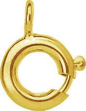 1 Stück Ringschloss, Federring, Kettenverschluss, Schmuckersatzteile 333er Gold
