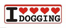 Bumper Sticker I Love Dogging Doggers Swinging funny Decal Graphic Vinyl Label