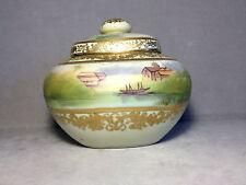 Antique Nippon Humidor / Jar Blue Mark