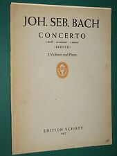 Partition pour 2 violons et piano J. S. BACH Concerto ut-mineur