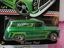 2012 Hot Wheels Kmart Actualización '55 Chevy Panel&motorcycle ∞ Real Riders