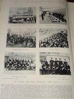 1896 Boys Entrenamiento Ship Hms León ~ Varios Escenas Etc