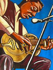 BUKKA WHITE PRINT poster mississippi delta blues cd national steel slide guitar