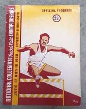 NCAA COLLEGE TRACK and FIELD CHAMPIONSHIPS PROGRAM - 1938