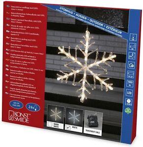 """LED-Acrylsilhouette """"Schneeflocke"""" Aussen 24 LED Konstsmide 4540-203"""
