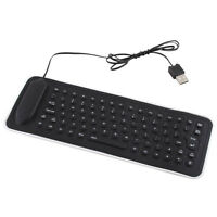 Handy 2.0 USB Flexible Silicone Foldable PC Keyboard for Laptop Notebook mzus