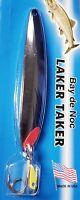 """Bay De Noc Laker Taker Nickel Blue Trolling/Casting Spoon 4"""" (3/4 oz) 9061NB"""