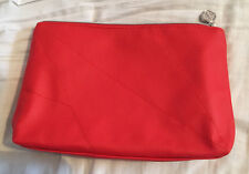 Shiseido Red Faux Leather Cosmetics, Toiletries Bag NEW