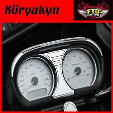 Kuryakyn Tri-Line Speedo and Tach Accents for '15-'16 Road Glide 6926