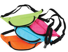 Neon Fanny Pack Pink Bag Bright Rave Club Festival 3 Pocket Adjustable