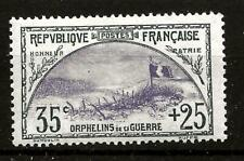 FRANCE (B207A) 1917 YV152 SG374 FRONT LINE TRENCH 35-25c FINE MM / MH SEE SCAN