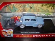 FIL7 Voiture 1/43 Collection SPIROU : Renault 4CV la mauvaise Tête