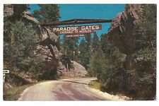 PARADISE GATES Custer State Park Entrance Needles Hwy South Dakota Postcard SD