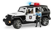 BRUDER 02526 Jeep Wrangler RUBICON POLICE con poliziotto - Scala 1:16